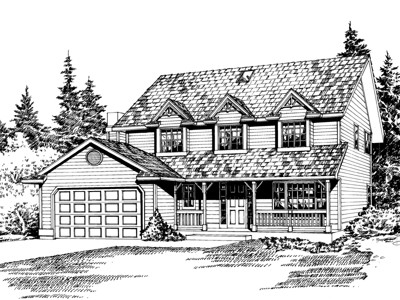 Farmhouse Plan Front Image of House - 071D-0057 | House Plans and More