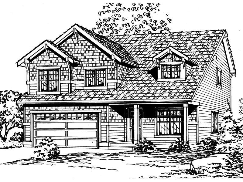 Shingle House Plan Front Image of House - 071D-0058 | House Plans and More