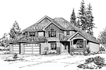 Traditional House Plan Front Image of House - 071D-0059 | House Plans and More