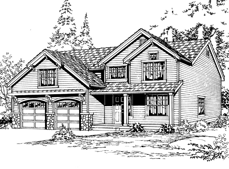 Arts & Crafts House Plan Front Image of House - 071D-0061 | House Plans and More