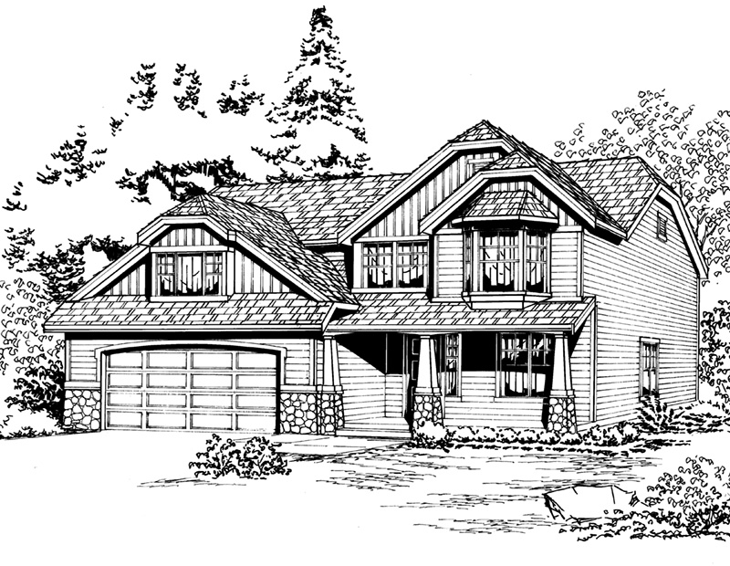 Tudor House Plan Front Image of House - 071D-0062 | House Plans and More