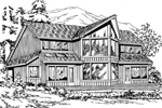 Mountain Home Plan Front Image of House - 071D-0063 | House Plans and More