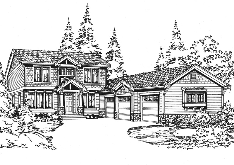 Shingle House Plan Front Image of House - 071D-0069 | House Plans and More