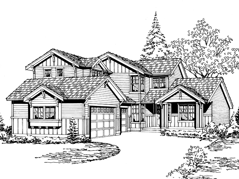 Modern House Plan Front Image of House - 071D-0070 | House Plans and More
