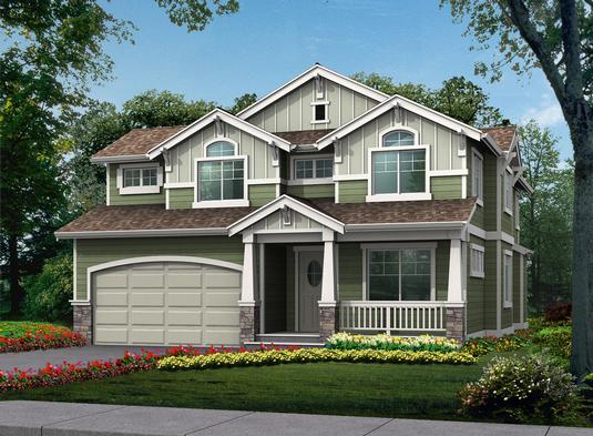 Symmetrical Craftsman Home Design