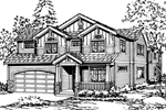 Arts & Crafts House Plan Front Image of House - 071D-0071 | House Plans and More
