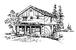 Traditional House Plan Front Image of House - 071D-0073 | House Plans and More
