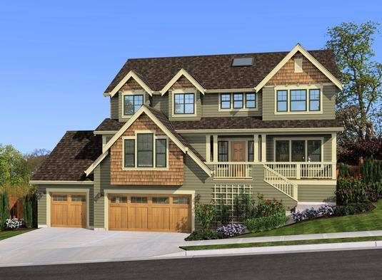 Multi-Level House Design With Craftsman Influence
