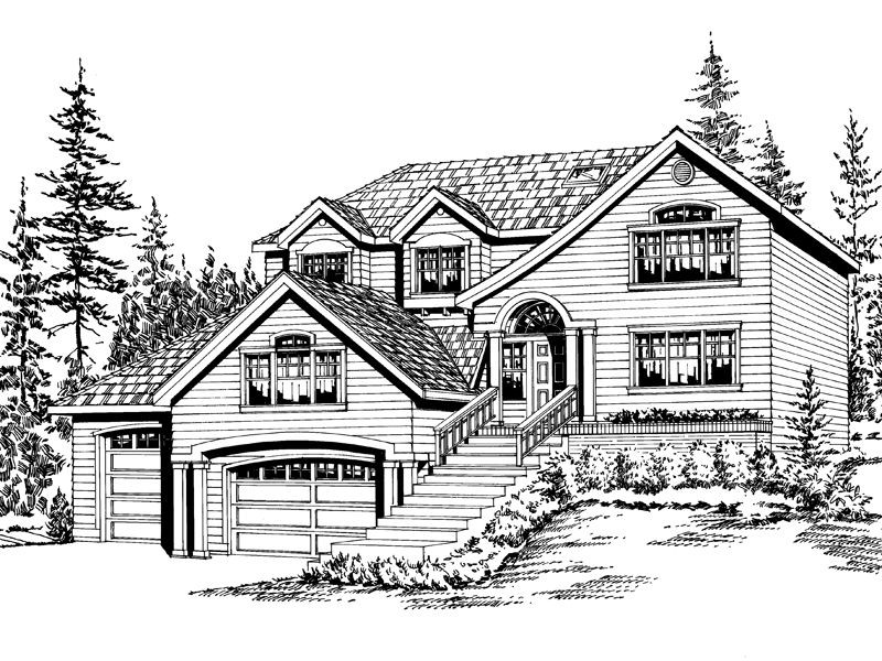 Southern House Plan Front Image of House - 071D-0075 | House Plans and More