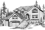 Contemporary House Plan Front Image of House - 071D-0075 | House Plans and More