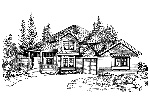 Farmhouse Plan Front Image of House - 071D-0076 | House Plans and More