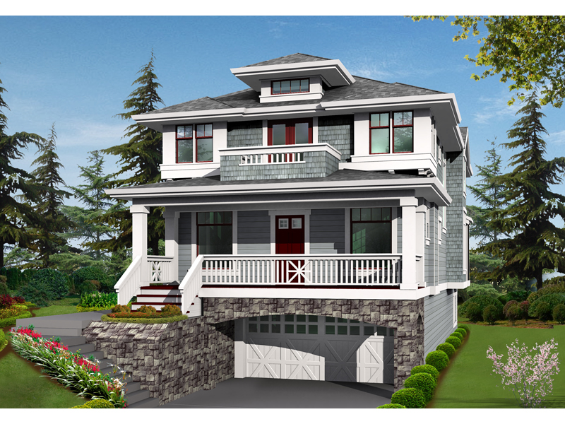 Two-Story Craftsman Home With Bungalow Style