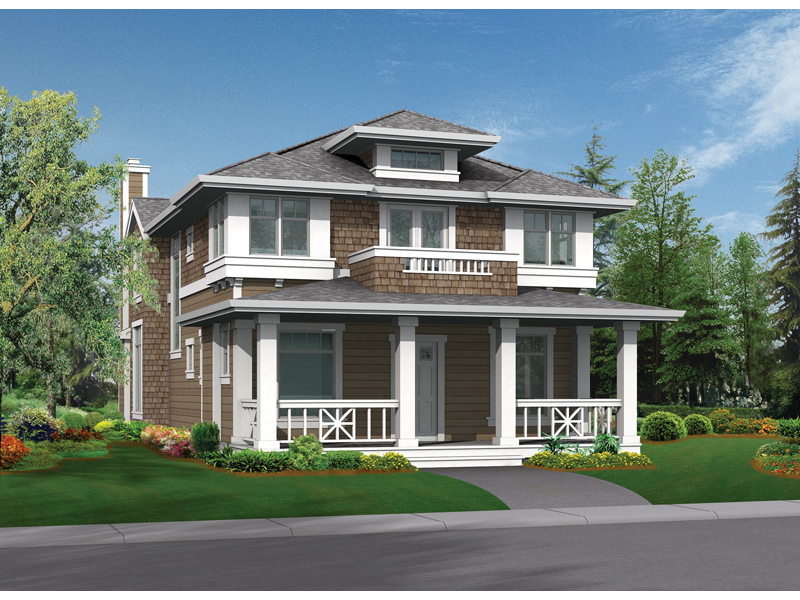 Craftsman Home Design Perfect For A Narrow Lot