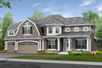 Luxury Craftsman Style House With Hip Gabled Roof