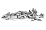 Craftsman House Plan Front Image of House - 071D-0092 | House Plans and More