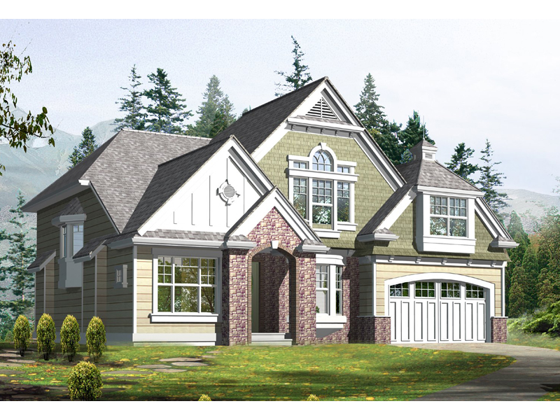 Charming Tudor Style Two-Story House Plan
