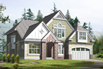 Contemporary House Plan Front Image of House - 071D-0093 | House Plans and More