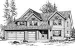 Modern House Plan Front Image of House - 071D-0095 | House Plans and More