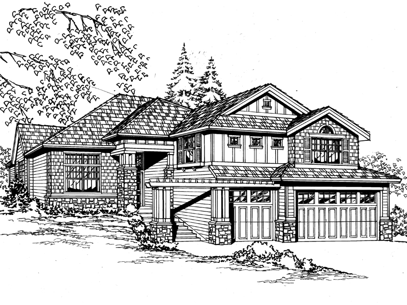 Prominent House With Craftsman Style