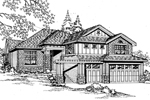 Arts & Crafts House Plan Front Image of House - 071D-0096 | House Plans and More