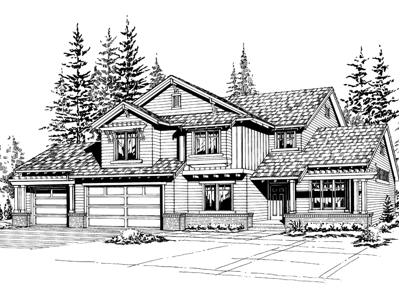 Southern House Plan Front Image of House - 071D-0097 | House Plans and More