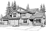 Traditional House Plan Front Image of House - 071D-0097 | House Plans and More