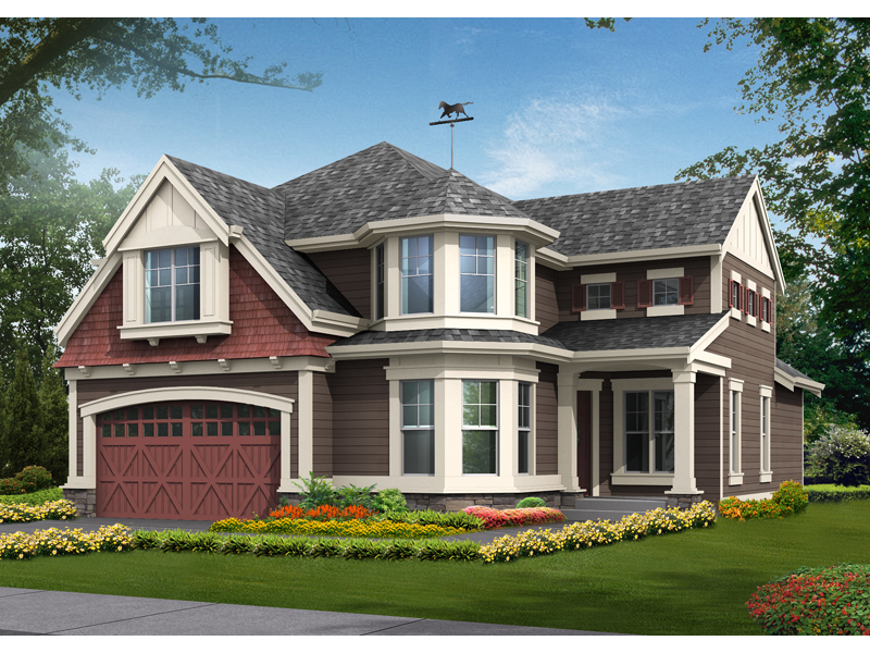 Traditional House Plan Front of Home - 071D-0103 | House Plans and More