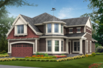 Contemporary House Plan Front of Home - 071D-0103 | House Plans and More