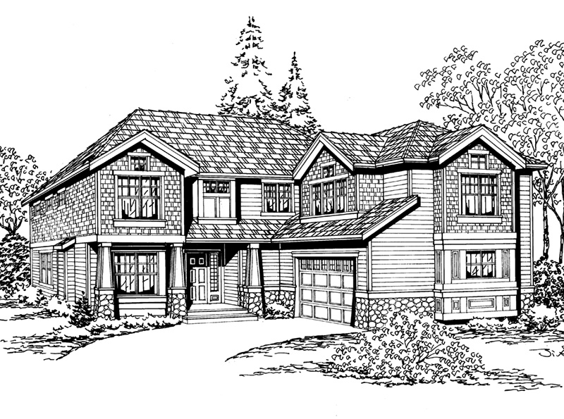 Contemporary House Plan Front Image of House - 071D-0104 | House Plans and More
