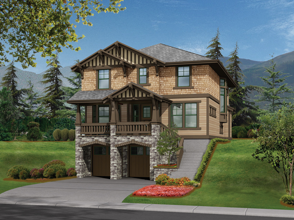 Riding hill craftsman home plan 071d 0105 house plans for Floor plans garage under house