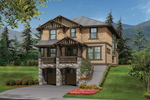 Rustic Shingle And Stone Multi-Level Craftsman Home
