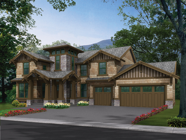 Glen alpine craftsman home plan 071d 0106 house plans for Alpine house plans