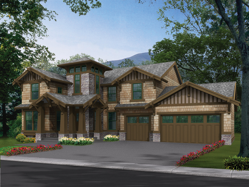 Stunning Rustic Craftsman Style House With Shingle Siding And Stone