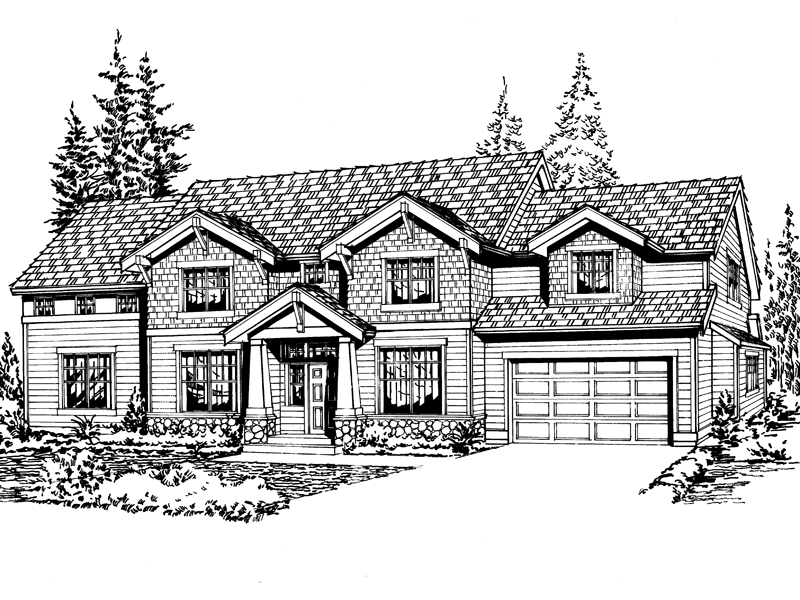 Traditional House Plan Front Image of House - 071D-0110 | House Plans and More
