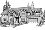 Symmetrical Craftsman Style Home With Shingle Siding