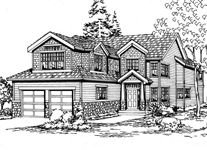 Contemporary House Plan Front Image of House - 071D-0114 | House Plans and More