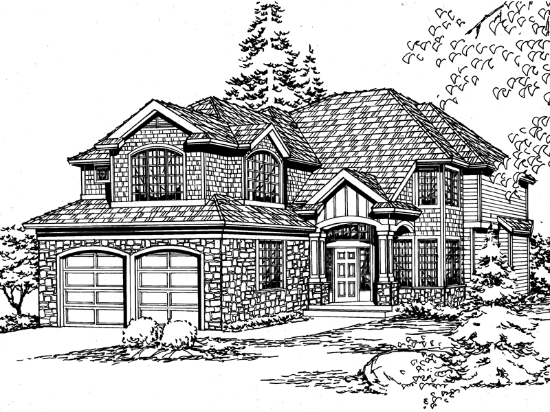 Modern House Plan Front of Home - 071D-0120 | House Plans and More