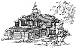 Traditional House Plan Front Image of House - 071D-0120 | House Plans and More