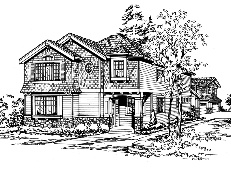 Contemporary House Plan Front Image of House - 071D-0121 | House Plans and More