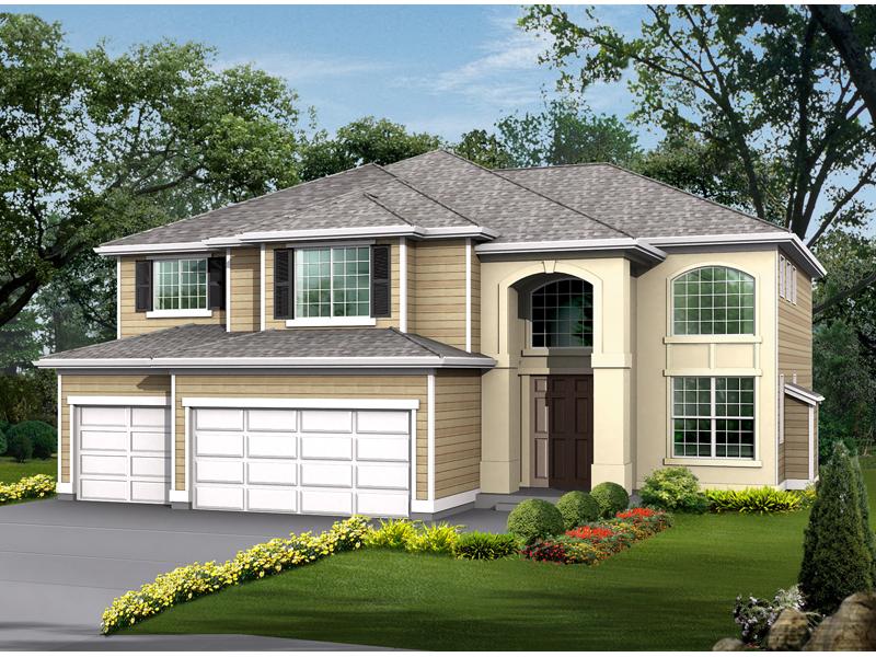 House Design Has Sleek Stucco Look