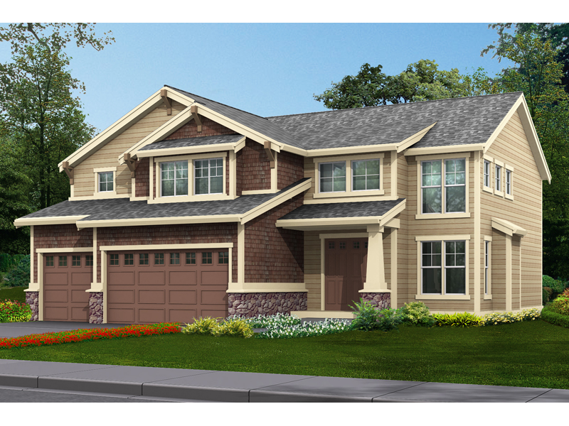 Comfortable Craftsman House With A Three-Car Garage