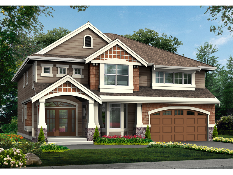 Pevensey craftsman home plan 071d 0127 house plans and more for Two story craftsman homes