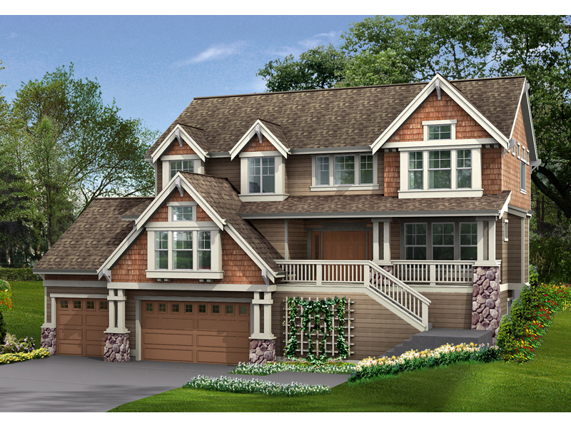 Multi-Level Craftsman Style Home Design