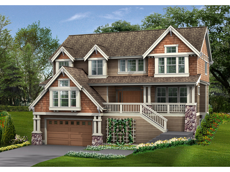 Garden Path Craftsman Home Plan 071d 0129 House Plans