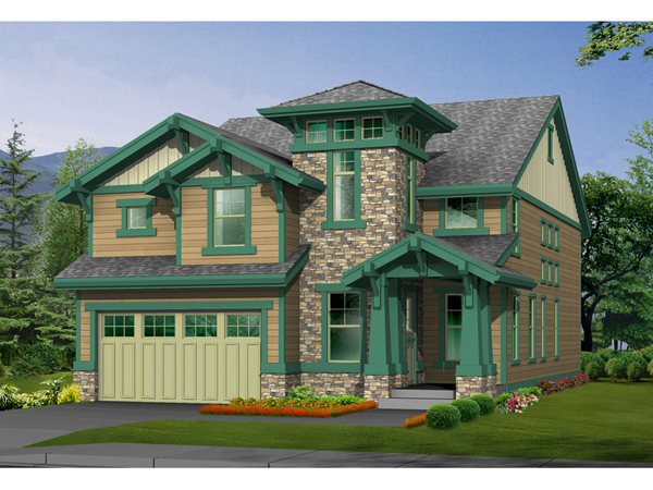 Etherton arts and crafts home plan 071d 0130 house plans for Arts and crafts house plans