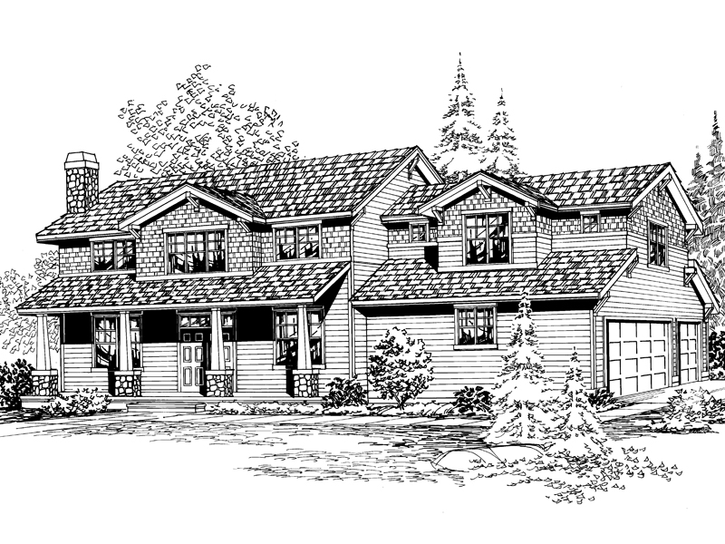 Arts & Crafts House Plan Front Image of House - 071D-0131 | House Plans and More