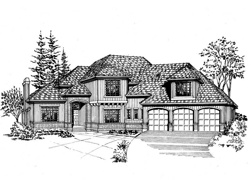 Traditional House Plan Front of Home - 071D-0133 | House Plans and More