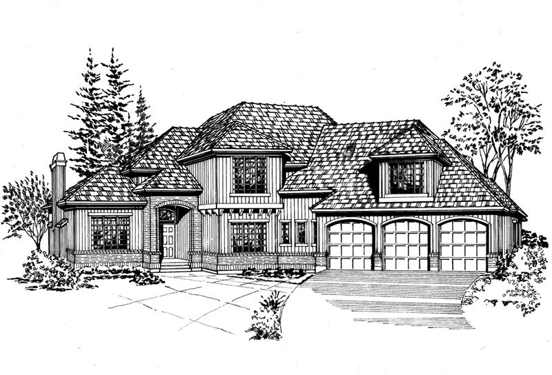 Southern House Plan Front Image of House - 071D-0133 | House Plans and More