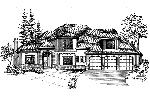 Contemporary House Plan Front Image of House - 071D-0133 | House Plans and More