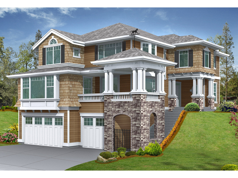 Arts & Crafts House Plan Front of Home - 071D-0134 | House Plans and More